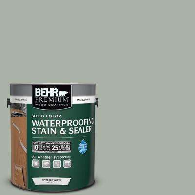 1 gal. #SC-149 Light Lead Solid Color Waterproofing Exterior Wood Stain and Sealer
