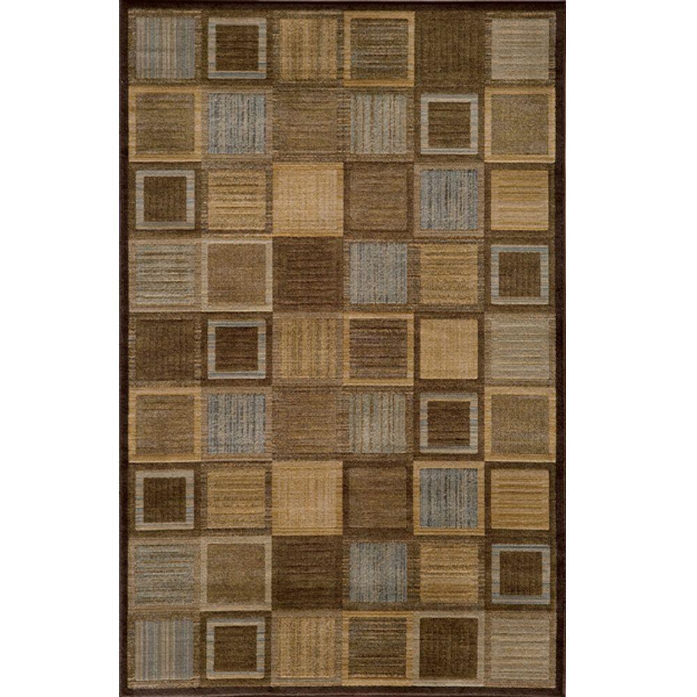 Marvelous Brown 8 ft. x 10 ft. Indoor Area Rug