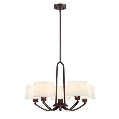 Studio 5-Light Satin Bronze Interior Chandelier