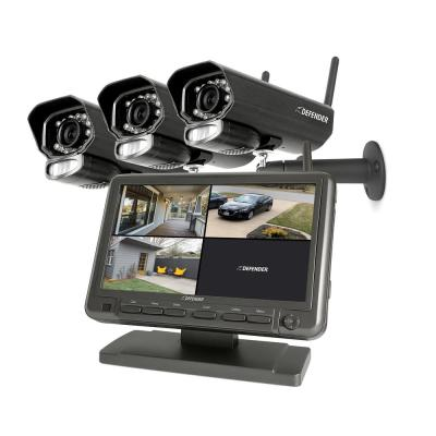 PHOENIXM2 4-Channel 480TVL 8GB Security Camera System with 7 in. Monitor and 3-Wireless Night Vision Cameras