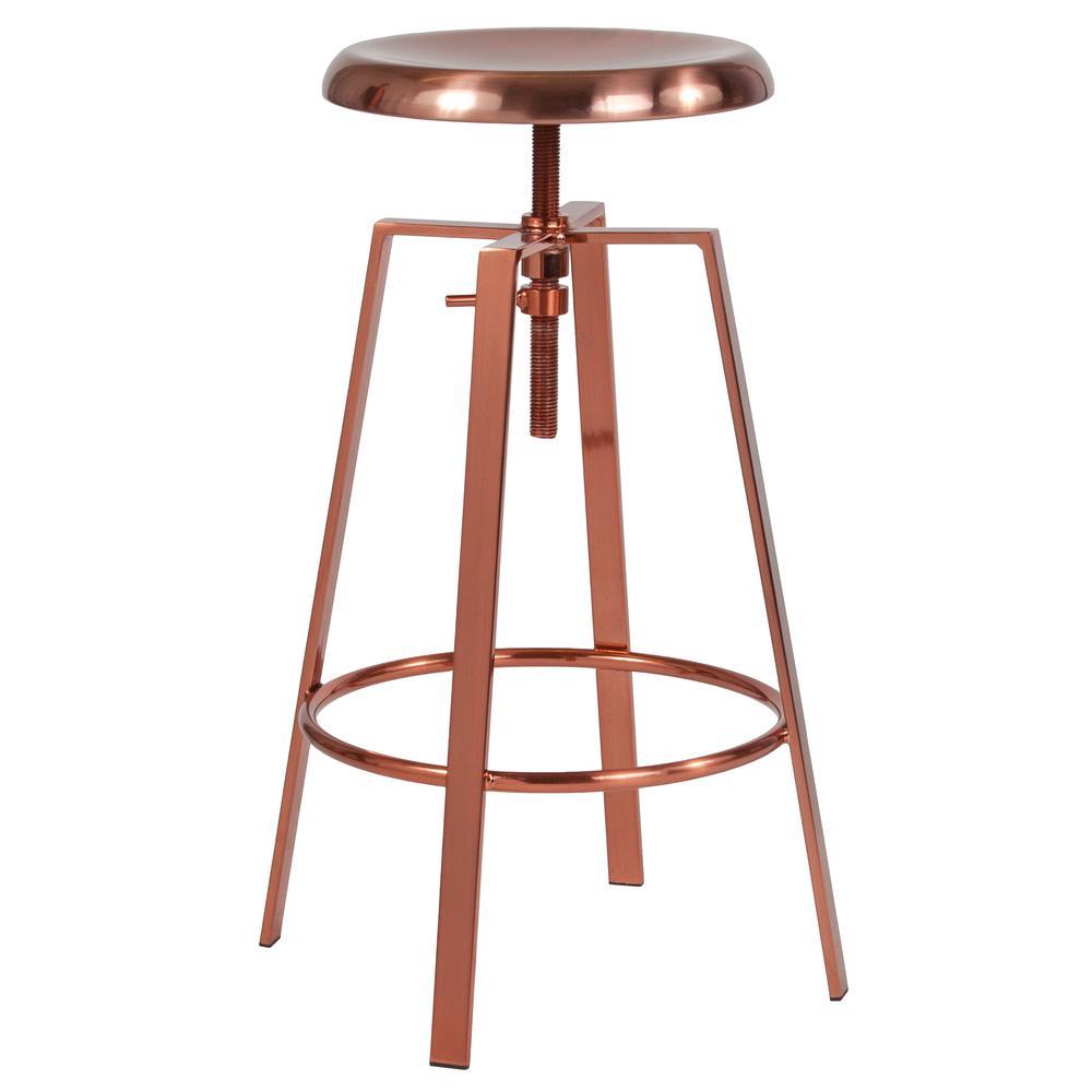 Admirable Rose Gold Bar Stools Kitchen Dining Room Furniture Inzonedesignstudio Interior Chair Design Inzonedesignstudiocom
