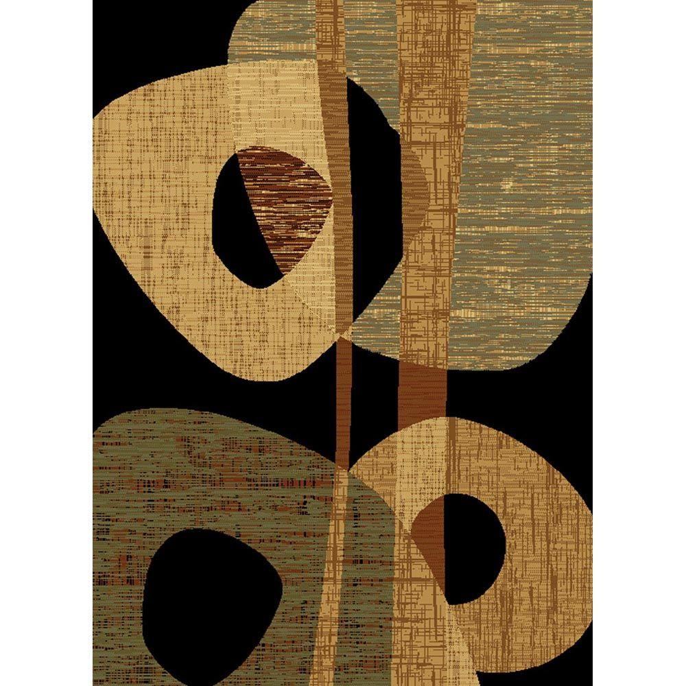 United Weavers Dunkin Black 7 ft. 10 in. x 10 ft. 6 in. Area Rug