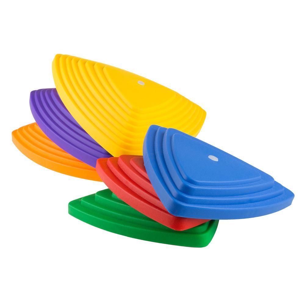 Triangular Balance Stepping Stones (Set of 6)