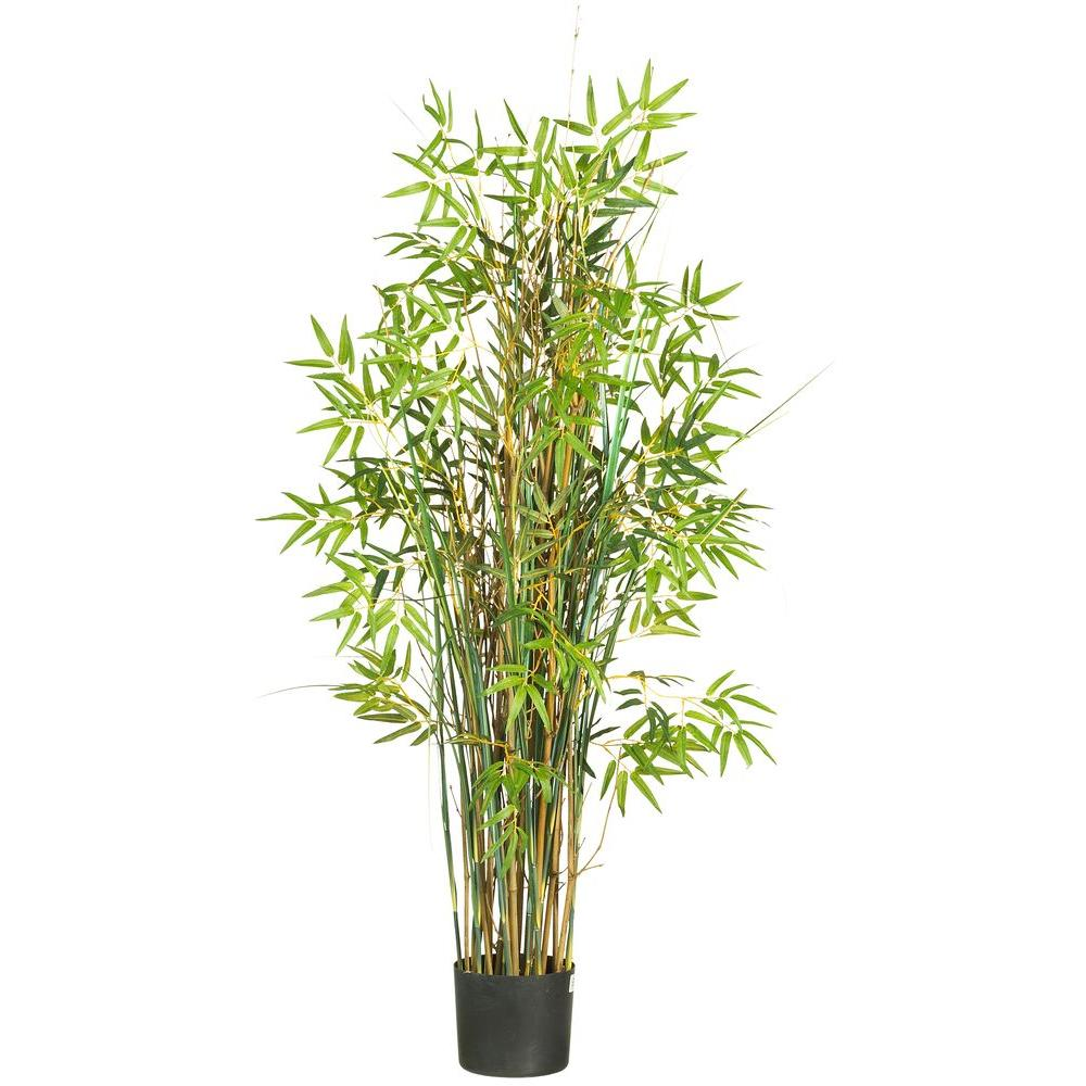 Nearly natural 5 ft bamboo grass silk plant 6569 the home depot bamboo grass silk plant workwithnaturefo