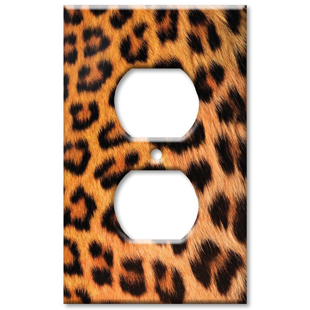 Art Plates Leopard Fur Print - Oversize Outlet Cover