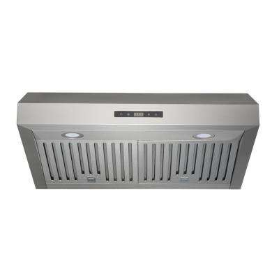 30 in. Under-Cabinet Range Hood in Stainless Steel with Baffle Filters