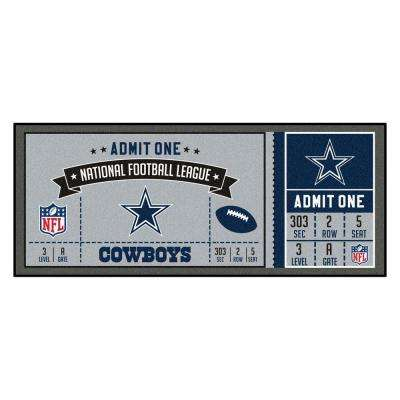 NFL - Dallas Cowboys 30 in. x 72 in. Indoor Ticket Runner Rug