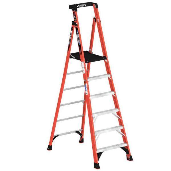12 ft. Reach Fiberglass Podium Ladder with 300 lb. Load Capacity Type IA Duty Rating (Comparable to 8 ft. Stepladder)