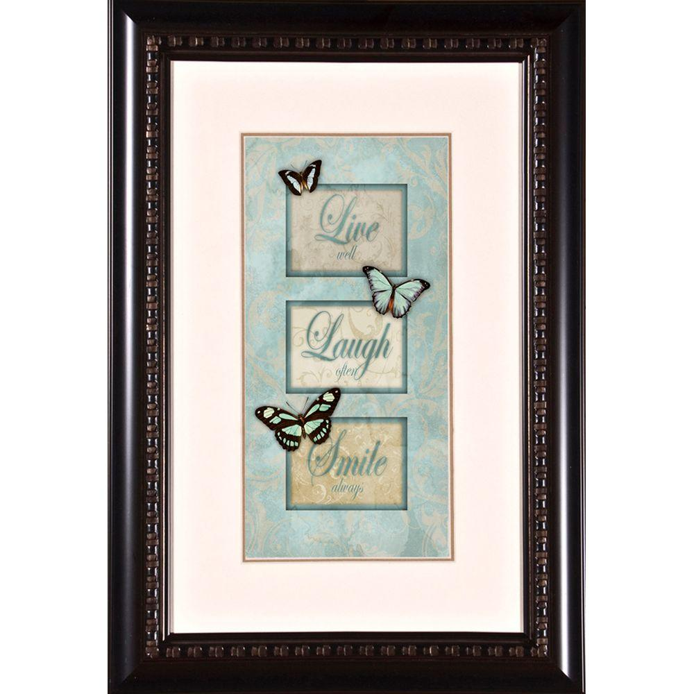 Framed Love Wall Decor : In quot listen pray love b framed wall art