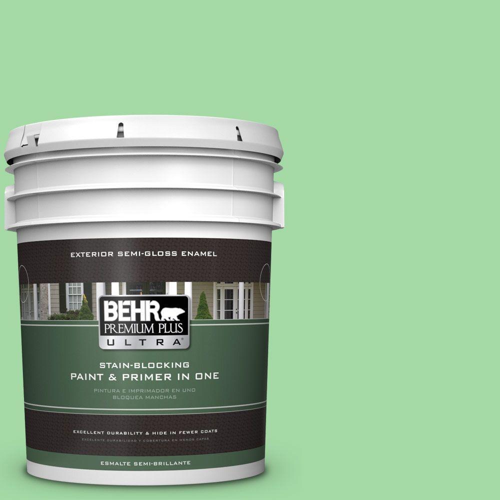 5-gal. #450B-4 Green Trance Semi-Gloss Enamel Exterior Paint