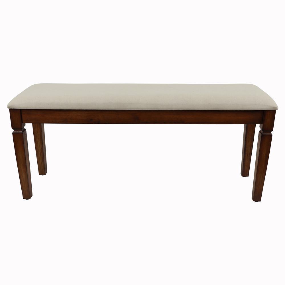 Waverly Honeynut Brown Wood Coat Rack Bench