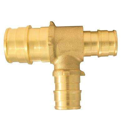3/4 in. x 1/2 in. x 1/2 in. Brass PEX-A Expansion Barb Reducing Tee
