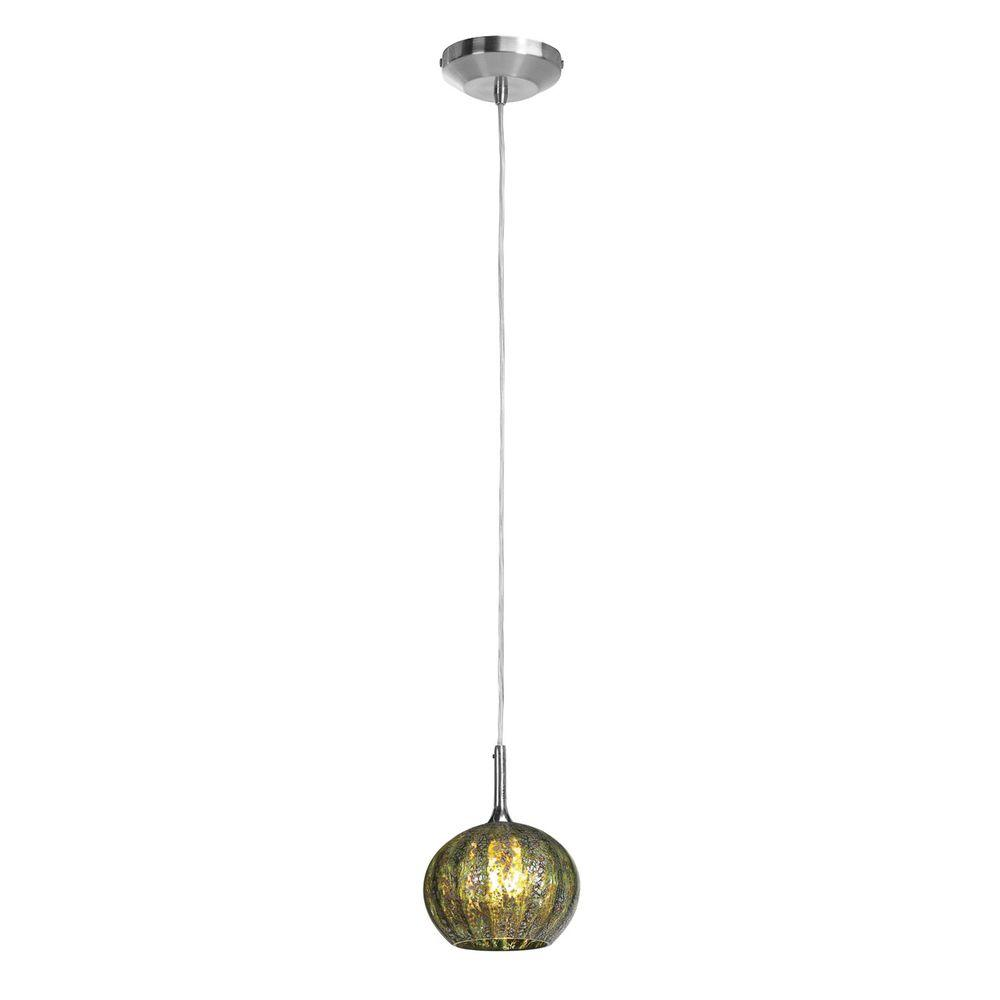 Filament Design Vista 1 Light Brushed Steel Halogen Pendant-DISCONTINUED