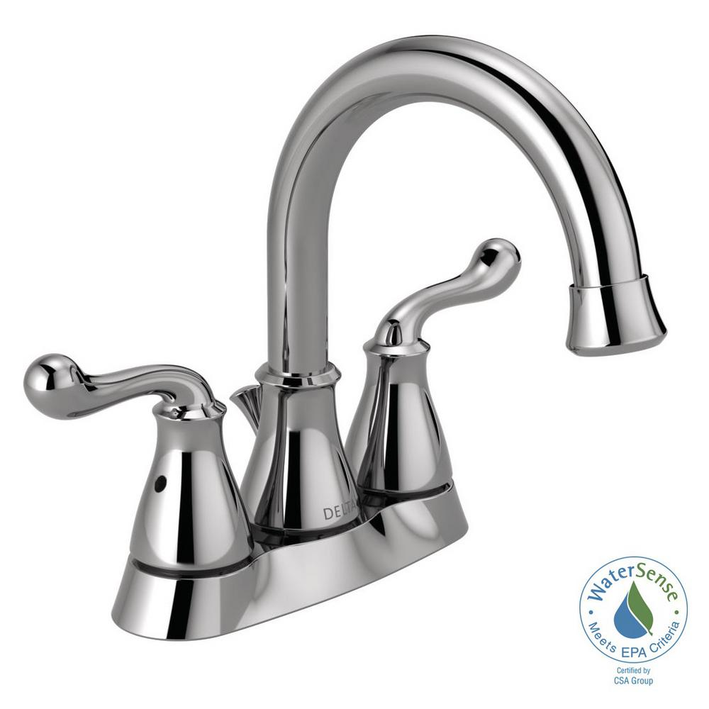 Centerset 2 Handle Bathroom Faucet In Chrome