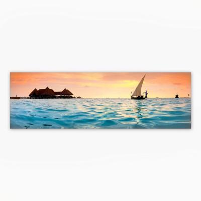 """""""Golden Palms"""" by Christopher Knight Collection Canvas Wall Art 12 in. x 36 in."""