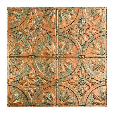 Traditional 2 - 2 ft. x 2 ft. Copper Fantasy Lay-in Ceiling Tile