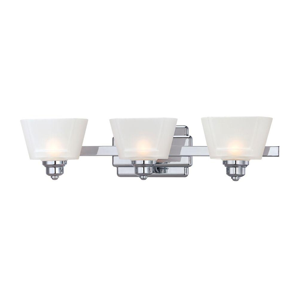 Bathroom Vanity Halogen Lights : Designers Fountain Metropolis 3-Light Chrome Interior Halogen Bath Vanity Light-6673-CH - The ...