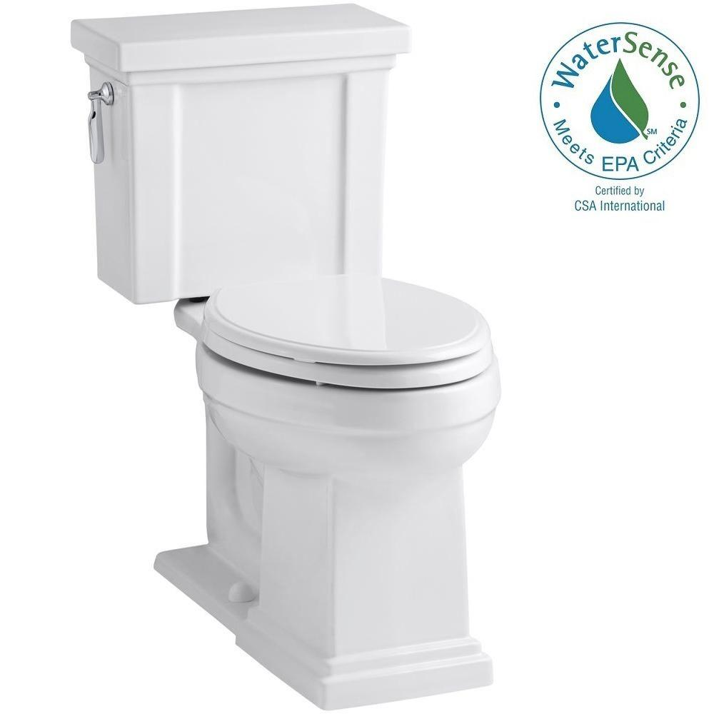 KOHLER Tresham 2-piece 1.28 GPF Elongated Toilet with AquaPiston Flush Technology in White