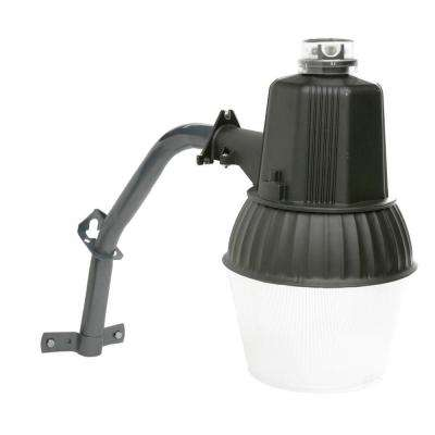 100-Watt Bronze Outdoor Dusk to Dawn Area Light with Metal Halide Bulb and Mounting Arm
