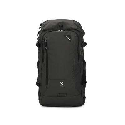 Venturesafe 21 in. Black Backpack with Laptop Compartment and Raincover
