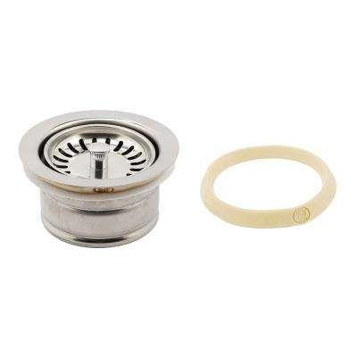 Garbage Disposal Flange Deep Dual Size with Strainer Basket 3-1/2 in. Chrome with Putty