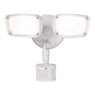 270-Degree White Motion Activated Outdoor Integrated LED Flood Light, Selectable CCT (3000K-5000K), 2000 Lumens