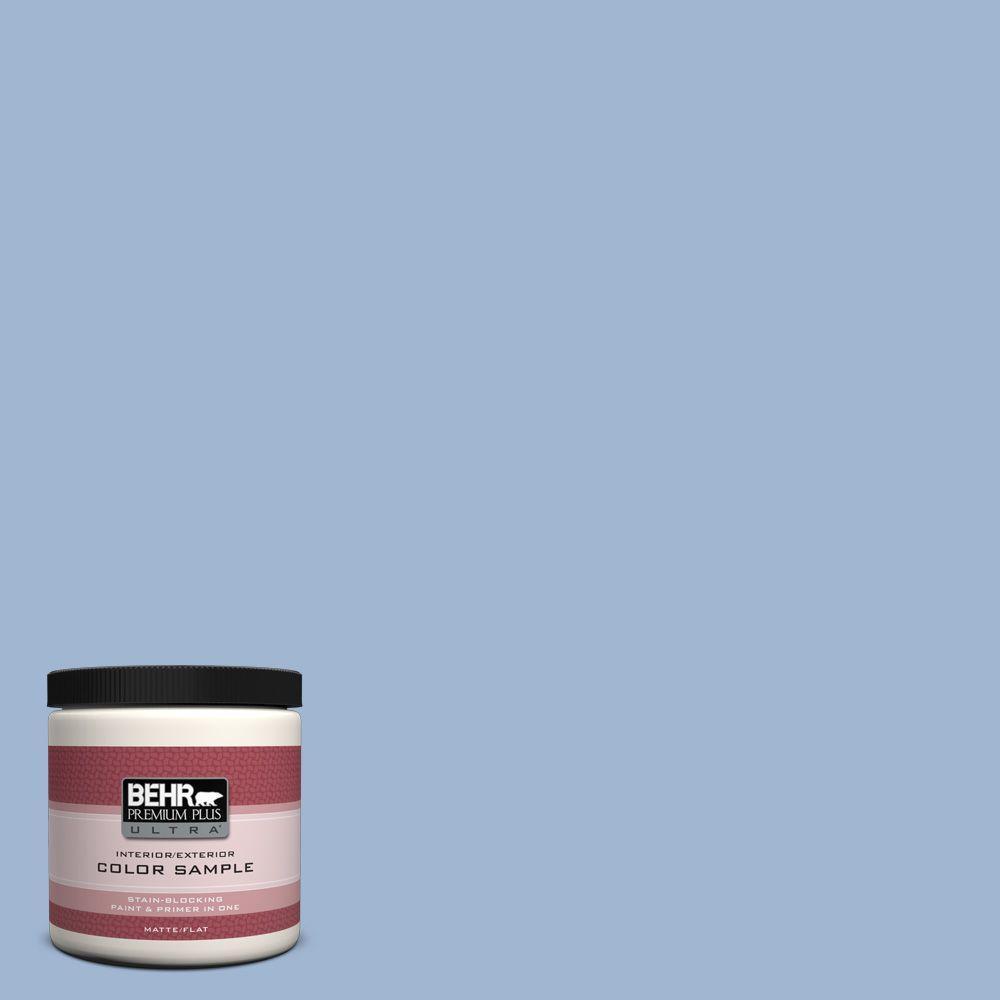BEHR Premium Plus Ultra 8 oz. #PPU14-10 Blue Suede Interior/Exterior Paint Sample