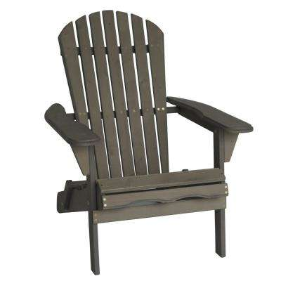 Villaret Gray Folding Wood Adirondack Chair