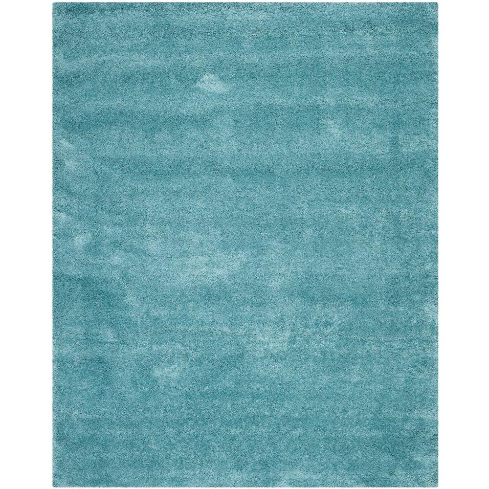 Safavieh Milan Shag Aqua Blue 8 Ft X 10 Area Rug Sg180 6060 The Home Depot