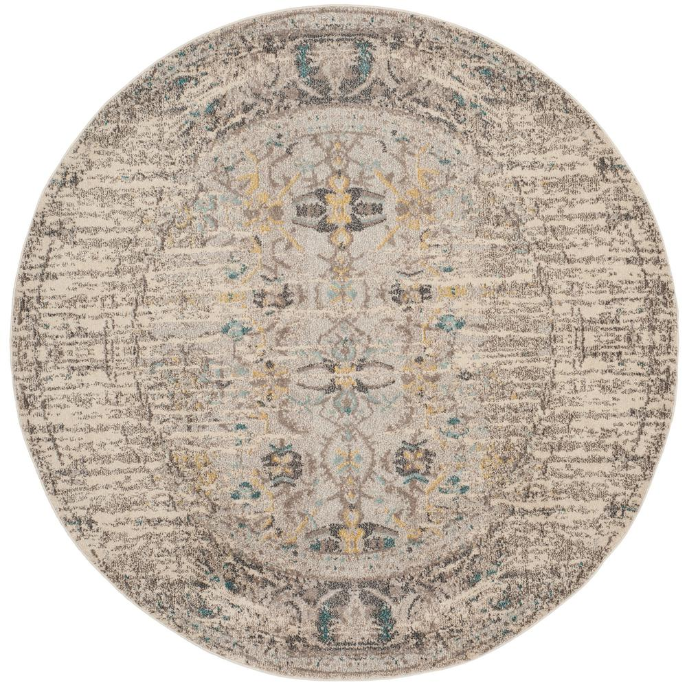 Safavieh Monaco Gray Multi 9 Ft X Round Area Rug