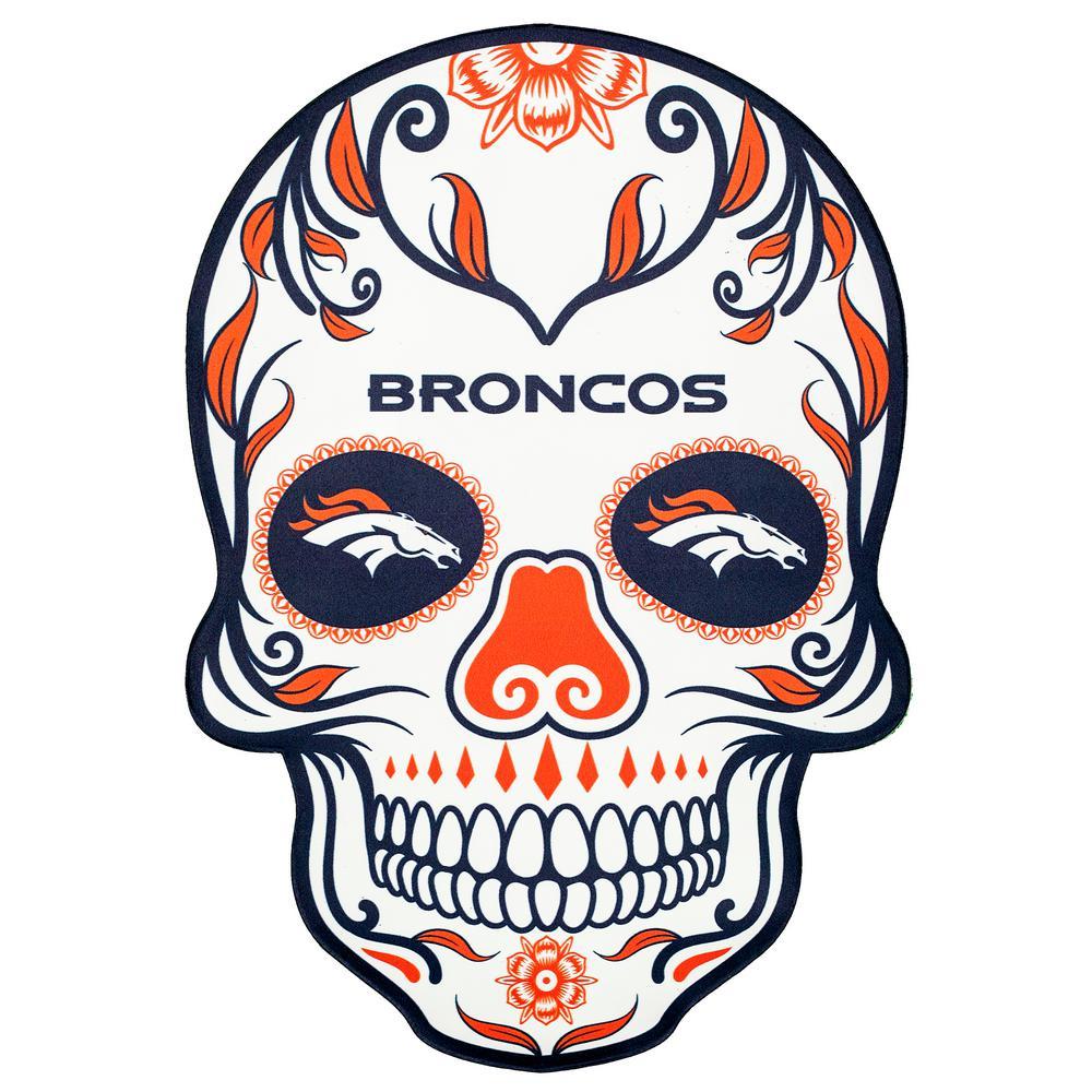 NFL Denver Broncos Outdoor Skull Graphic- Large