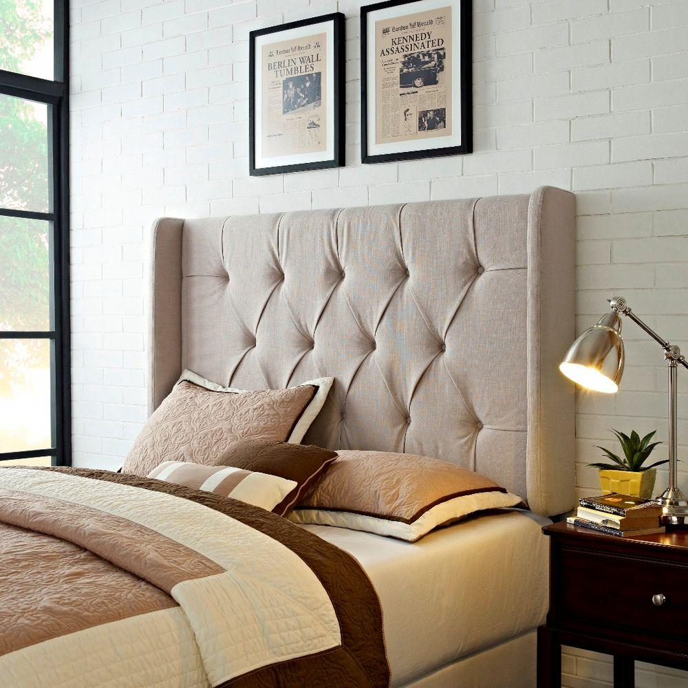 Superbe Samuel Lawrence Furniture Tan Full/Queen Headboard. Write A Review