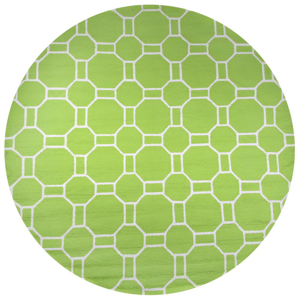 Lime Green Outdoor Area Rug: Rizzy Home Azzura Hill Lime Green Geometric 8 Ft. X 8 Ft