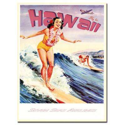 18 in. x 24 in. Hawaii Vintage Canvas Art