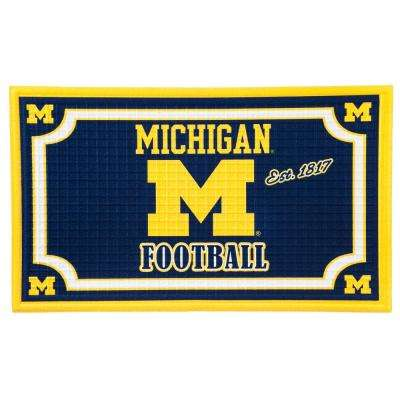 University Of Michigan 18 in. x 30 in. Embossed Welcome Mat