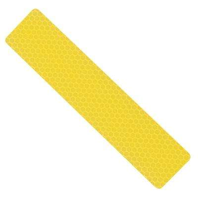 1.25 in. x 6 in. Yellow Reflective Safety Strips