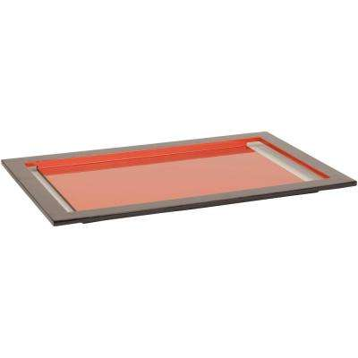 Locatax Terracotta 20 in. Decorative Tray