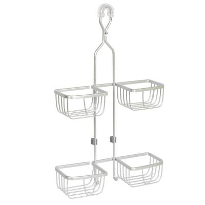 NeverRust Aluminum over the Shower Hand Held Shower Hose Caddy in Satin Chrome