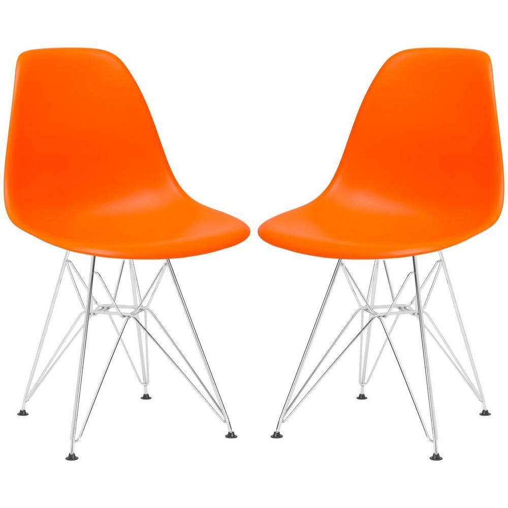 Padget Orange Side Chair (Set of 2)