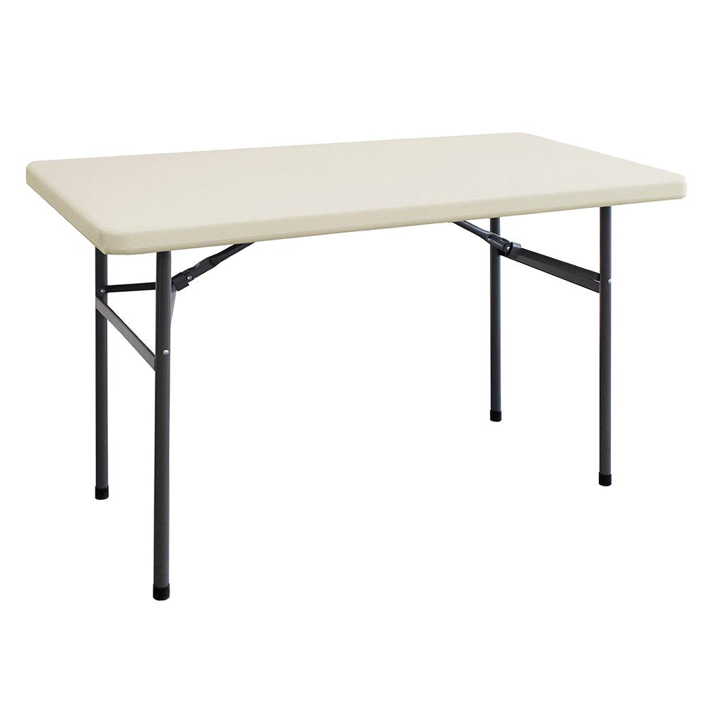 HDX 4 ft Banquet Folding Resin Earth Tan Table 2448BX The Home
