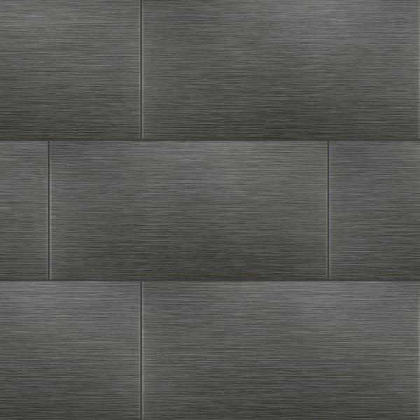 Metro Gris 12 in. x 24 in. Matte Porcelain Floor and Wall Tile (16 sq. ft./case)