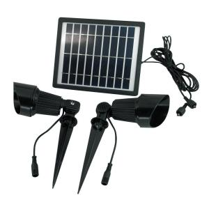 Solar Goes Green Solar Bright White LED Black Outdoor Super Spot Light by Solar Goes Green