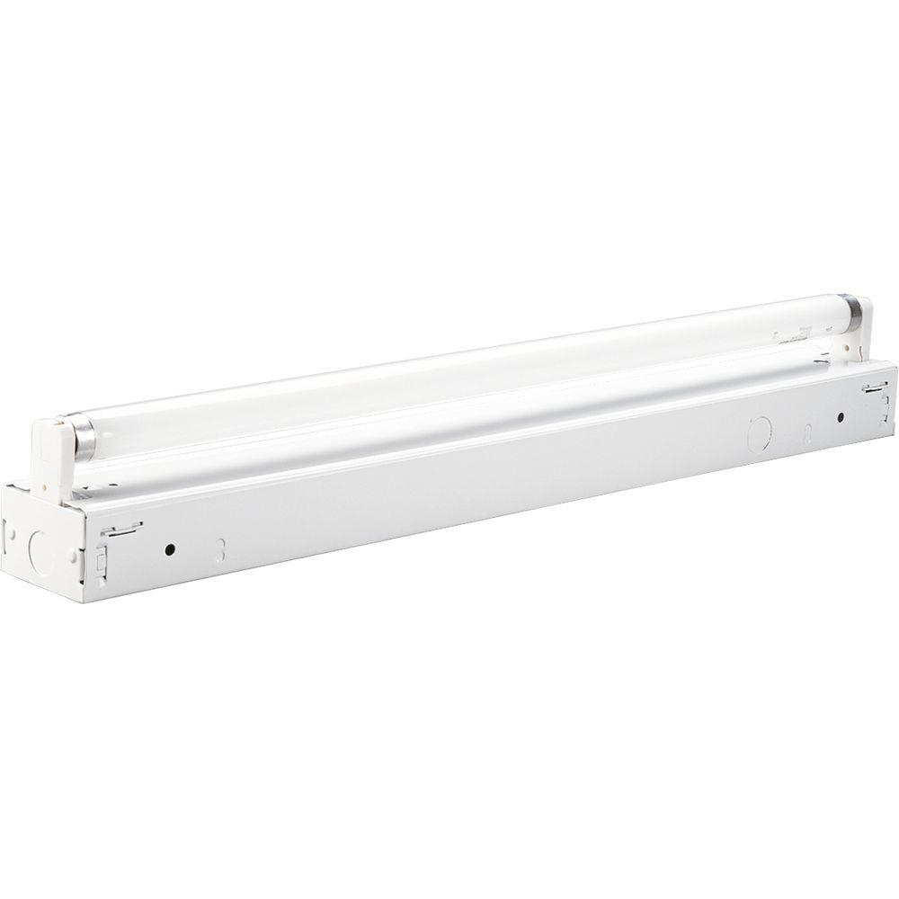 1-Light 24 in. White Fluorescent Strip