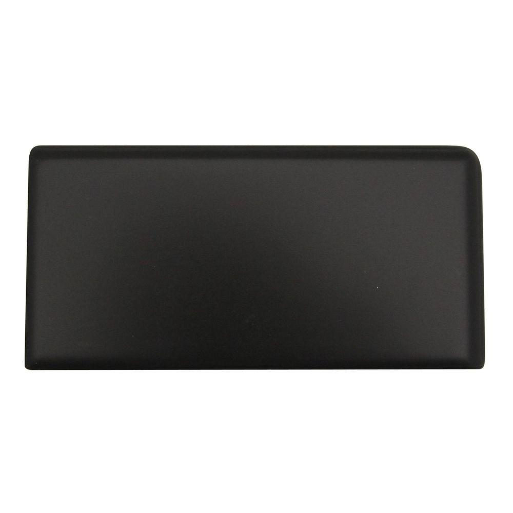 Rittenhouse Square 3 in. x 6 in. Matte Black Ceramic Left