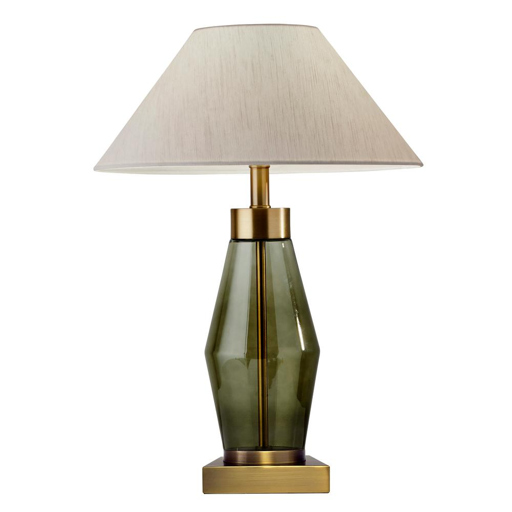 Murphy 23.5 in. Brass Table Lamp
