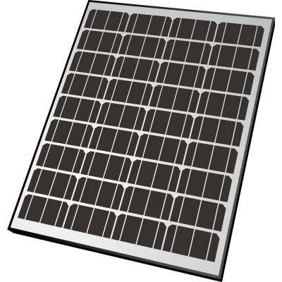 90-Watt Monocrystalline Solar Panel for 12-Volt Charging
