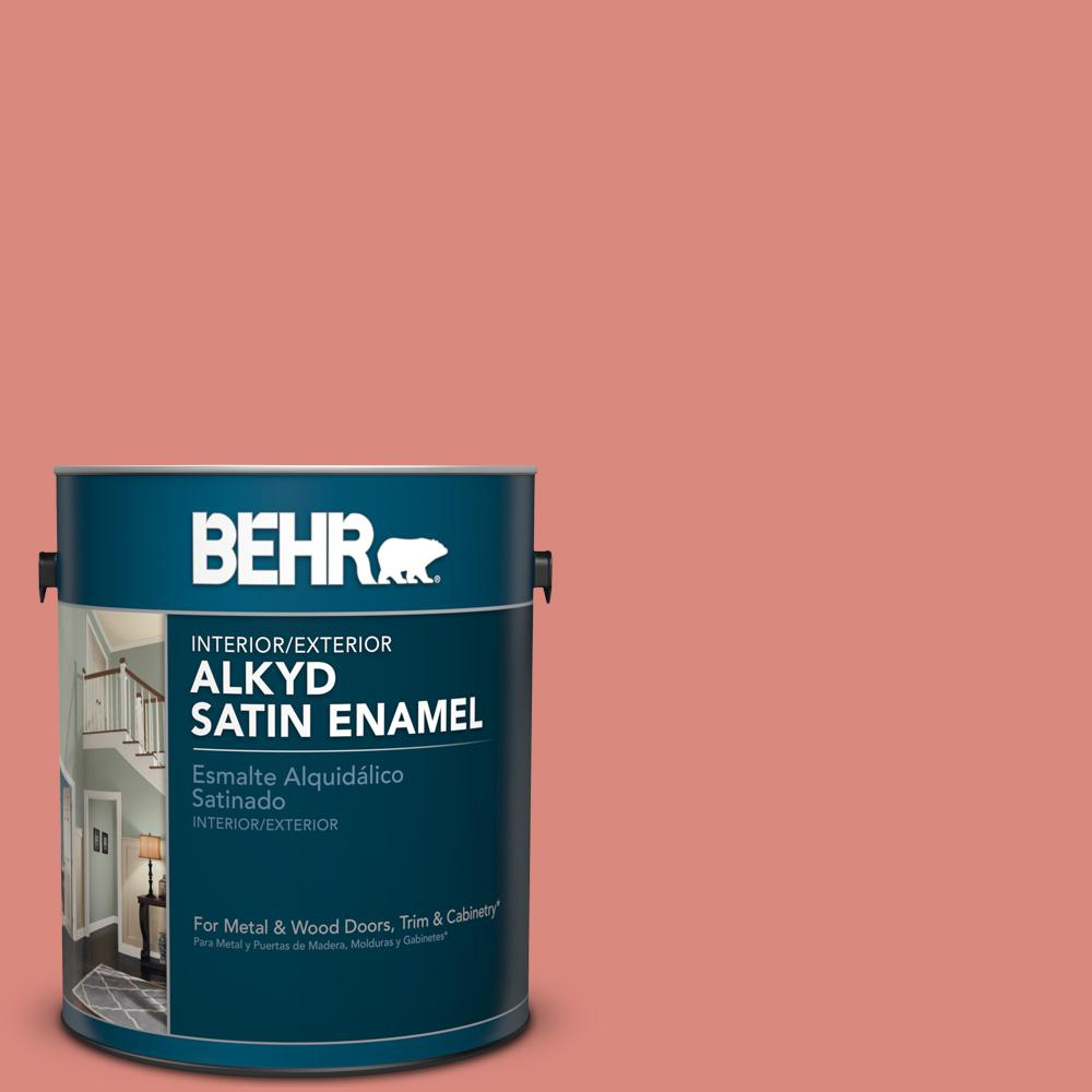 1 gal. #M170-5 Indian Sunset Satin Enamel Alkyd Interior/Exterior Paint