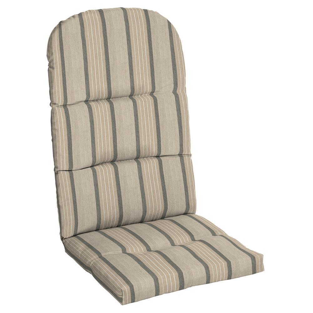 Home Decorators Collection 20.5 X 18 Outdoor Adirondack Chair Cushion In  Sunbrella Cove Pebble
