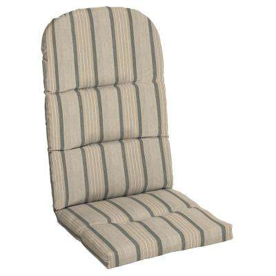 20.5 x 18 Sunbrella Cove Pebble Outdoor Adirondack Chair Cushion
