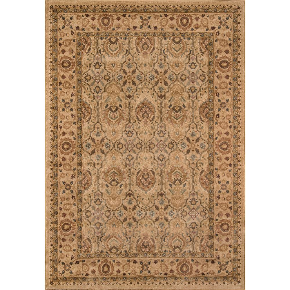 ECarpet Gallery Portico Ivory 5 Ft 3 In X 7